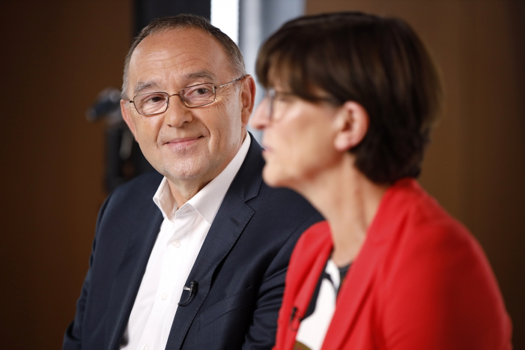 Saskia Eskens und Norbert Walter-Borjahns (Foto spd.de)