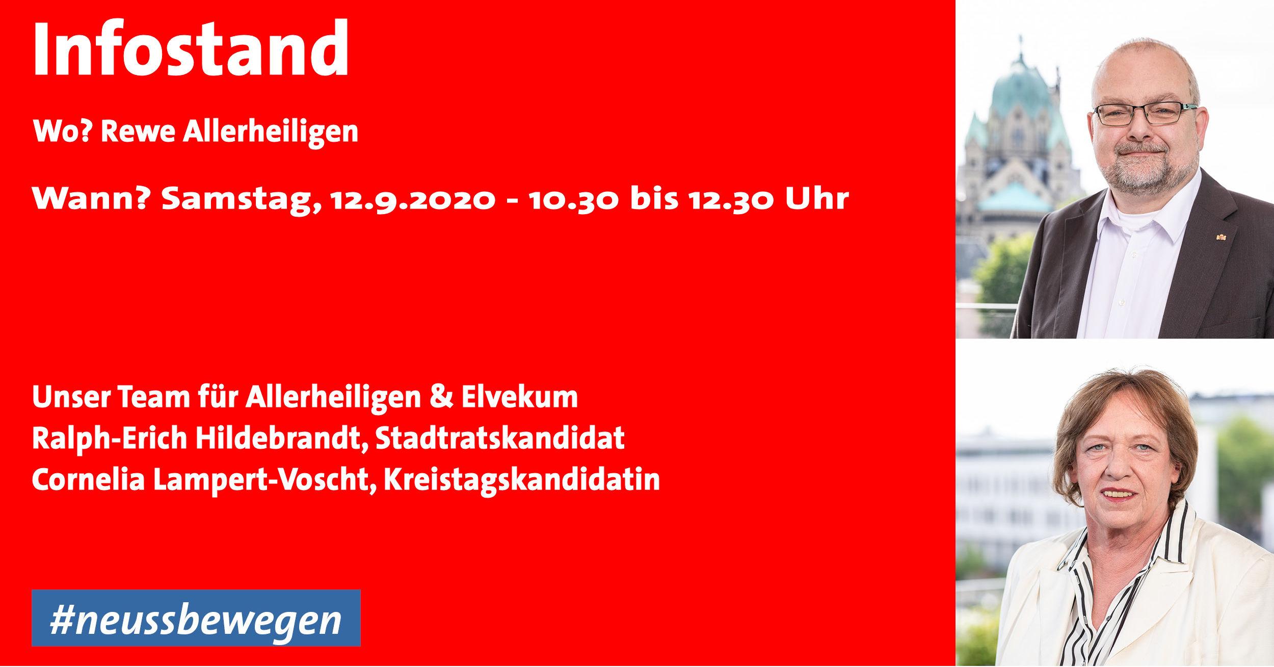 Infostand vor dem Rewe Allerheiligen am 12.9.2020